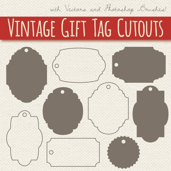 Clip Art Gift Tags Digital Frames Labels Silhouette