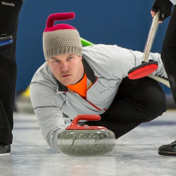 The Original Curling Rock Crochet Hat Curling Hat for Adults