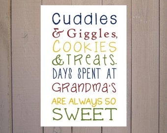 Grandma Gift. Print and Pop into any frame. DIY Instant Download Print from Home. Grandma Poem. Mother's Day Gift for Grandma