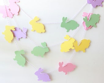 Easter Garland, Easter Decor, Bunny Garland, Spring Garland, Baby Garland, Easter Decoration, Twine Garland, Baby Decor, Easter Banner