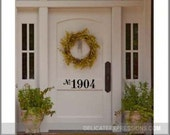 Front Door Number Decal - Vinyl Number Door Decal - Custom House Number Decal - Front Door Decal Door Numbers Address Decal