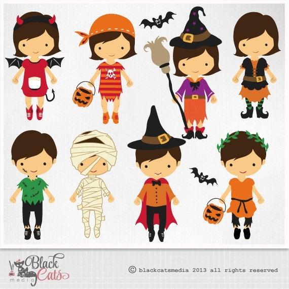 HALLOWEEN COSTUMES Digital Clipart Halloween Clipart Costume
