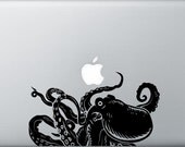 Large Octopus laptop decal detaled design Laptop Macbook Mac Tablat ipad car window bathroom restroom removable decal boys sticker gift idea