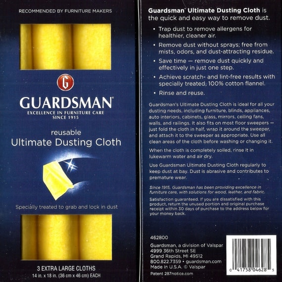 3 Ultimate Dusting Cloths Wood Furniture Cleaning