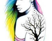 "Art Print ""Stadt Indianer """