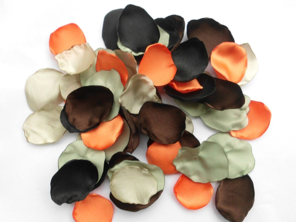 Camo Flower Petals 100 Handmade Camo Wedding Flower Petals Decor Table Scatter