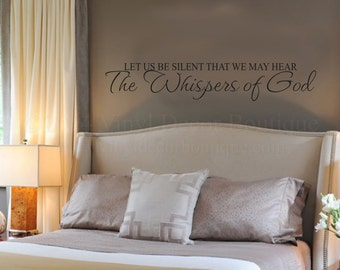 Christian Wall art wall decal wall quote vinyl lettering vinyl wall quote Whispers of God