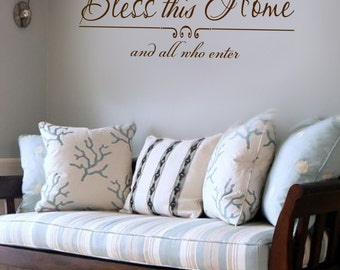 Bless This Home Wall art wall decal wall quote vinyl lettering vinyl wall quote Bless This Home