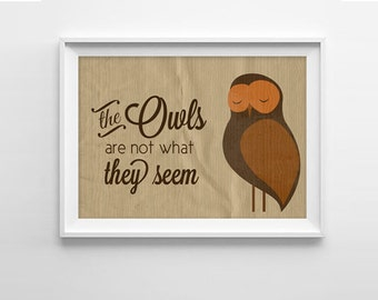 Twin Peaks Owls Art Print