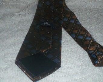 70's Men's Silk  Necktie