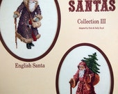 Olde Santas Collection III By Dick & Sally Boyd Vintage Christmas Cross Stitch Pattern 1986