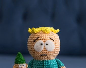 """Crochet Pattern of Butters and Underpants Gnome from """"South Park"""" (Amigurumi tutorial PDF file)"""