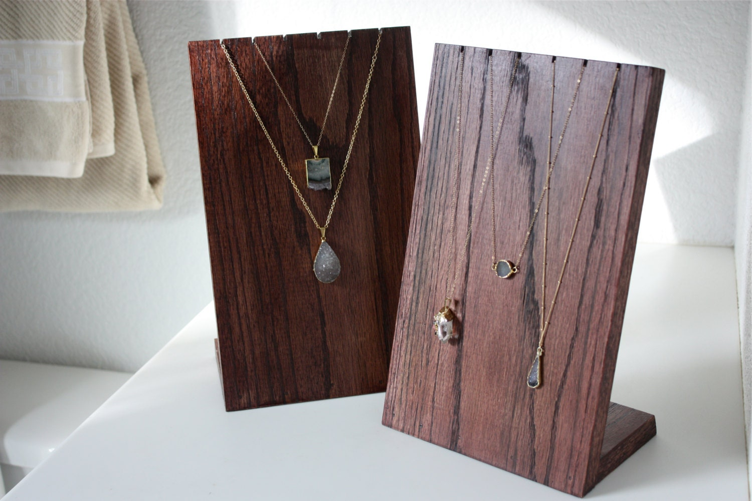 Wooden Necklace Display Stand / Necklace Display / Retail