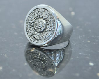 Vintage Sterling Silver Tribal Ring