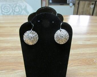Fine Silver .999 PMC Earrings 25mm