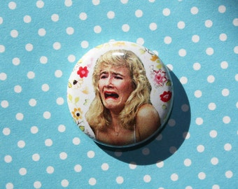 Laura Dern Crying David Lynch Blue Velvet- One Inch Pinback Button Magnet