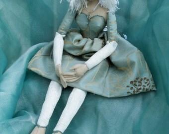 Handmade Cloth Doll - Evangeline - Art Doll