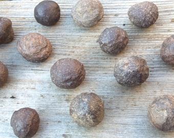 "Shaman Stones / Moqui Balls / Moqui Marbles / Thunder Balls - Small 3/4"" + round"