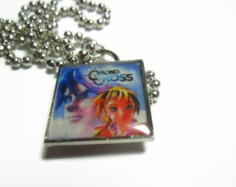Chrono cross pendant on ball chain -  FREE size adjustments  - video game jewelry - video gamenecklace - gifts for gamers - geekery gifts