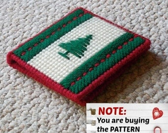 "Plastic Canvas Pattern: Graph 'N Go -- ""Evergreen"" Notepad Holder ***PATTERN ONLY***"