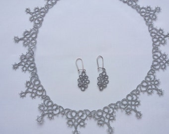 Tatting lace jewellry