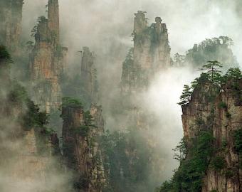 Nature Landscape Fine Art photography - Zhangjiajie National Forest, China.