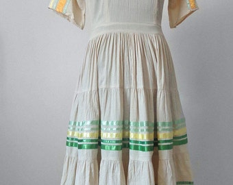 Vintage 1970's Squaw Patio Dress