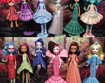 olivia printable doll clothes fits monster high ever after high and more