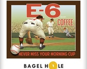 Baseball Mom Coffee Print Kitchen Royals Giants Phillies MLB Fans