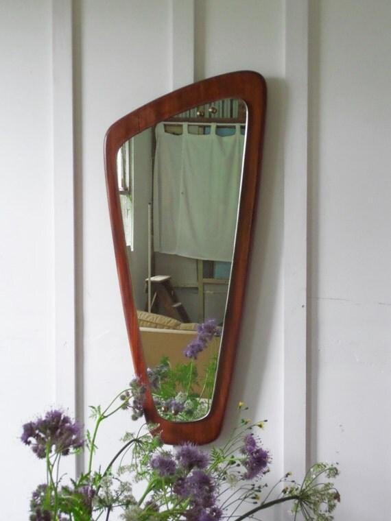 Vintage Wall Mirror Danish Teak Mirror