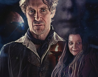 """Doctor Who UK Imported 17"""" X 11"""" Night of the Doctor - 8th Doctor Print"""