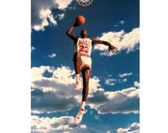 Michael Jordan Poster Etsy