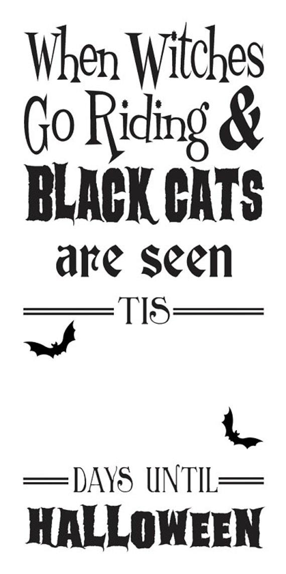 Primitive Halloween STENCIL When Witches go riding...Days