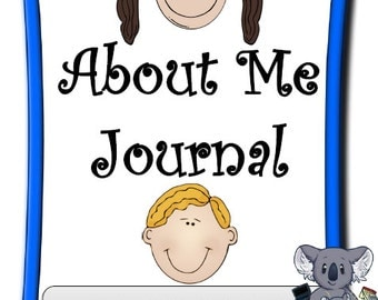 About Me Kid's Journal- Kids Write About Themeslves