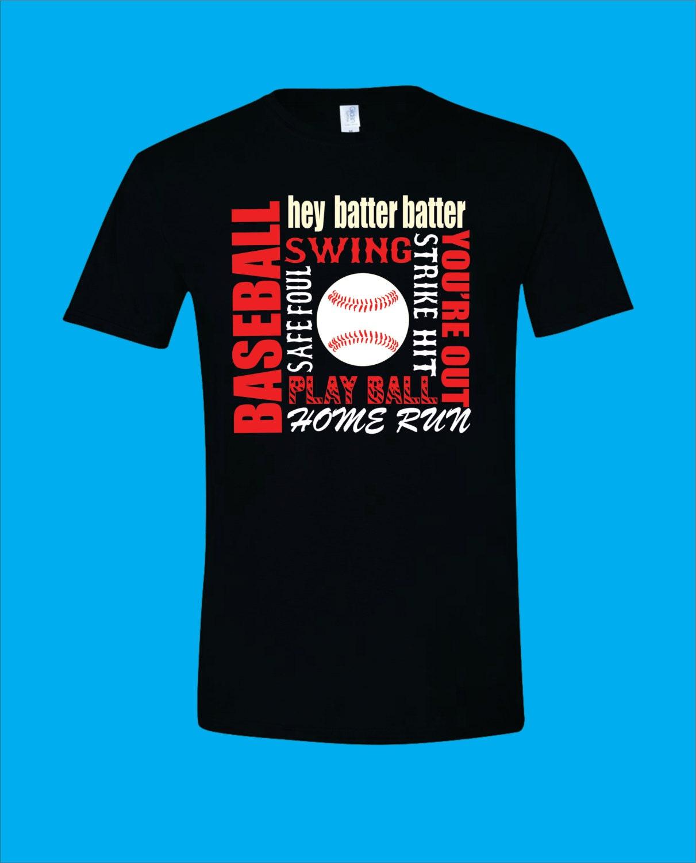 Subway Art Baseball Or Softball T Shirt Baseball By