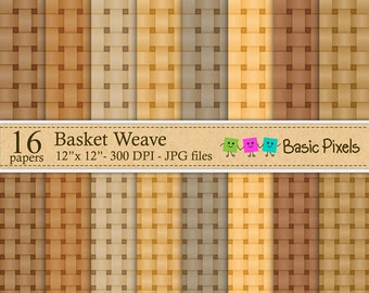 Basket weave - Patterns - Backgrounds - Personal and commercial use