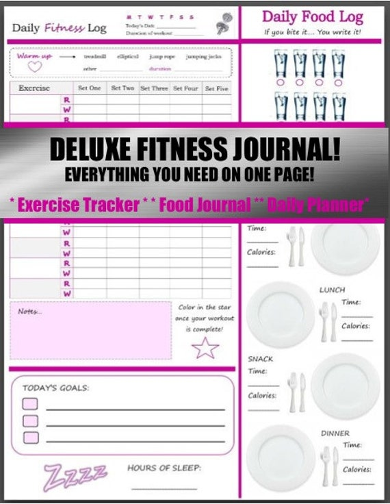 3 in 1 Health and Fitness Journal
