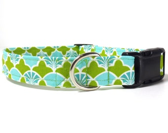 Dog Collar - Cabana Seashells Durable Fabric Dog Collar, Xs, S, M, L, Xl
