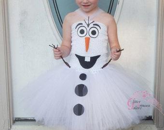 Olaf inspired, tutu dress Halloween Costume for Girls