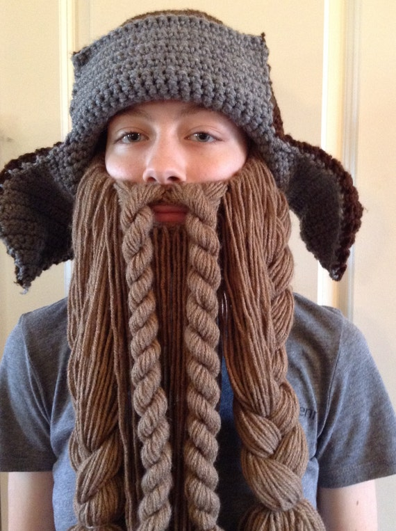 Crochet Dwarf Beard Hat Pattern : Dwarf Hunter Trapper Hat and Beard by TaylorFour on Etsy