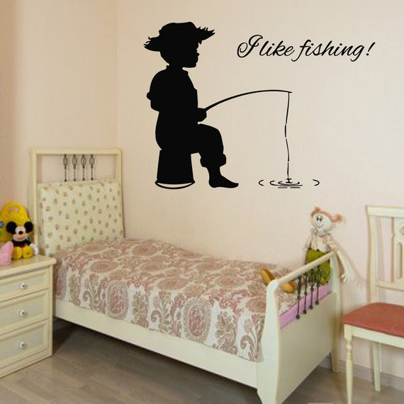 Boy Wall Decal Quote Fisherman Vinyl Stickers By DecalMyHappyShop