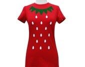 Strawberry Shirt - Cute Kawaii Costume Berry T-Shirt - (Available in Ladies sizes S, M, L, XL)