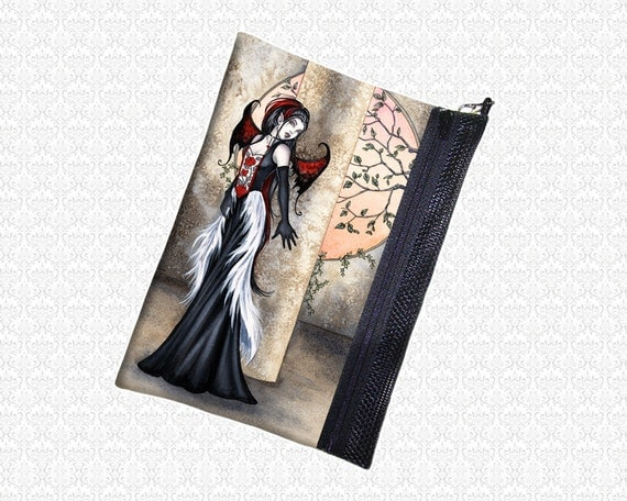 Hiding from Daylight Amy Brown bag vampire fairy pouch wristlet, travel bag,