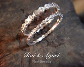 Bicycle Chain Rings for 2 Lovers (set of 2 silver rings)
