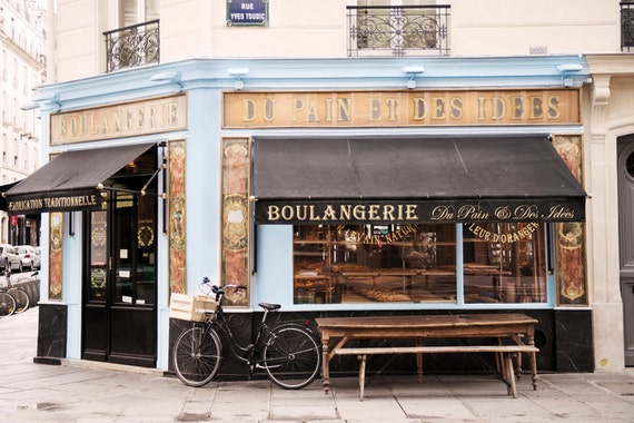 Paris bakery photography classic paris boulangerie blue and for Classic house bakery