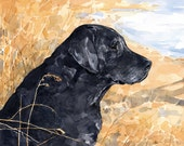 Custom Pet Portrait 8x10 Dog Watercolor Painting
