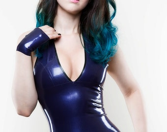 Essential Latex Halter Mini Dress