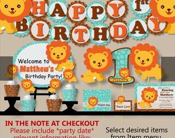 Lion birthday party Etsy