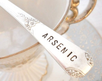Poison Spoon - Stamped Teaspoon - Arsenic - Rio 1930
