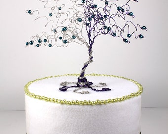 Entwined Tree Wedding Cake Topper When Two Become One Custom Wire Tree Sculpture